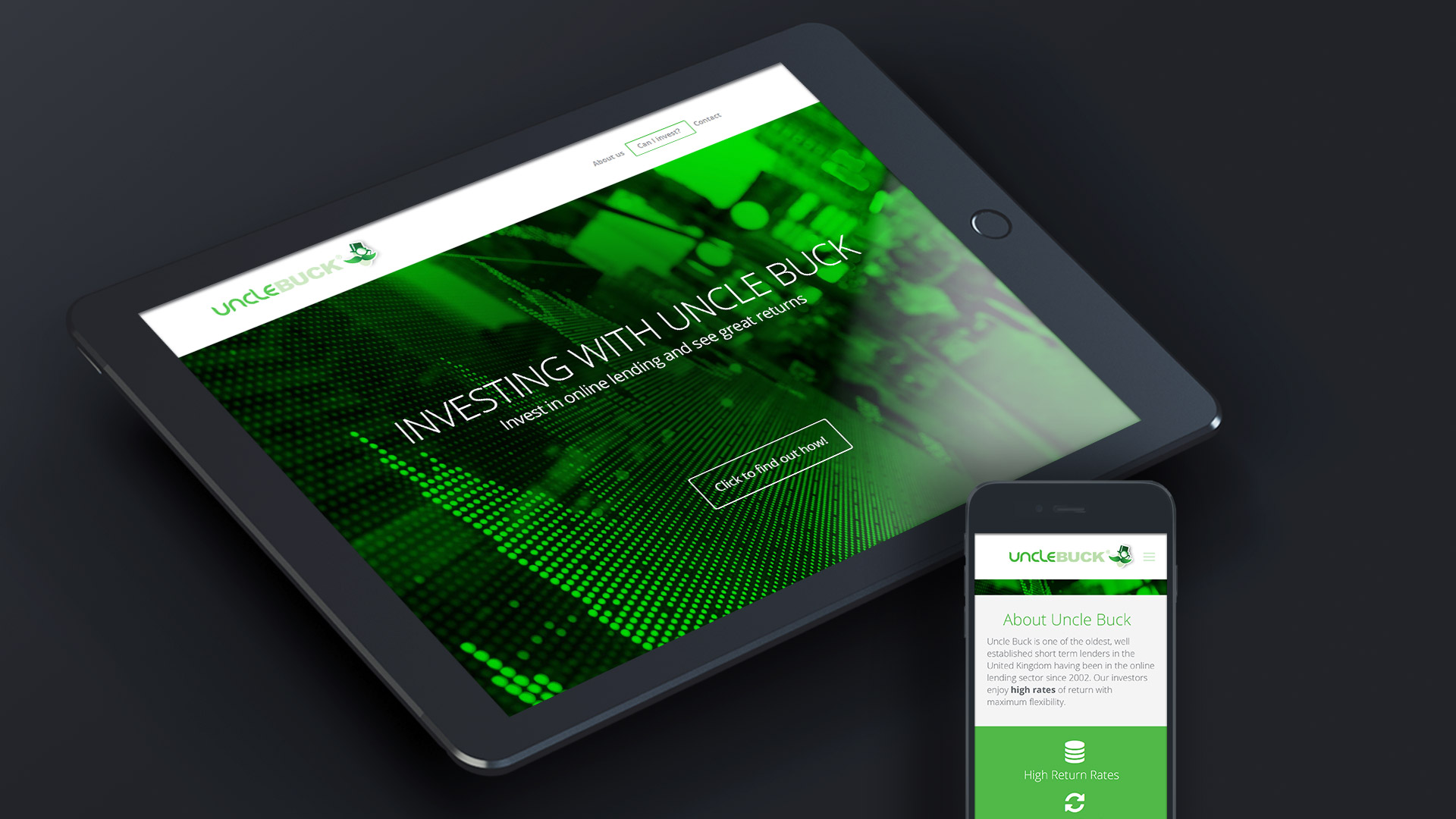 investor web site design